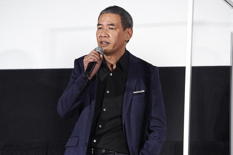 SABU<映画『砕け散るところを見せてあげる』公開記念舞台挨拶>新宿ピカデリー(2021年4月10日)