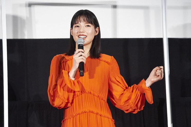 石井杏奈<映画『砕け散るところを見せてあげる』公開記念舞台挨拶>新宿ピカデリー(2021年4月10日)