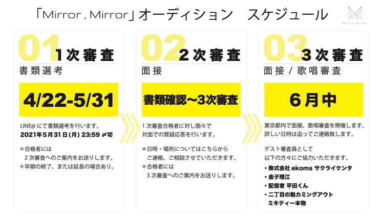 Mirror,Mirror<オーディション>スケジュール