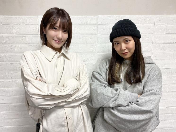 白間美瑠、小嶋花梨(©NMB48)