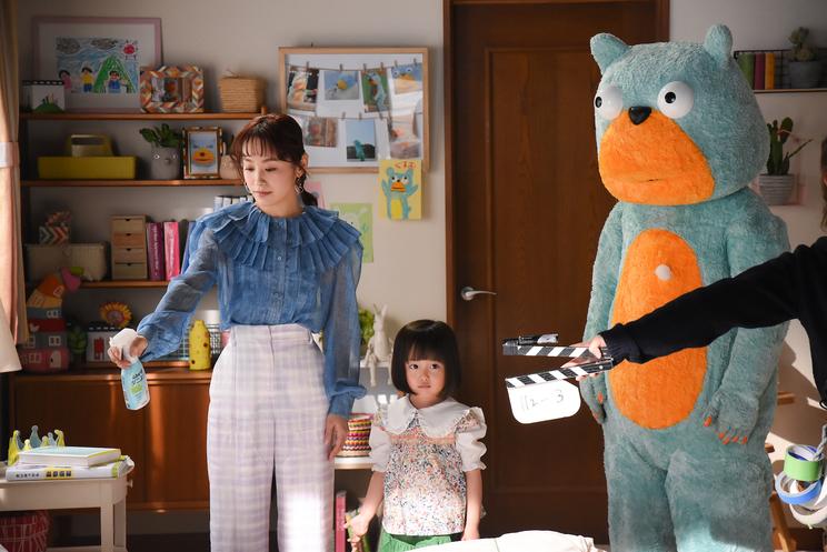 メイキング写真『ムシューダ ダニよけ』新TV-CM第1弾「やさしい熊雄」篇より