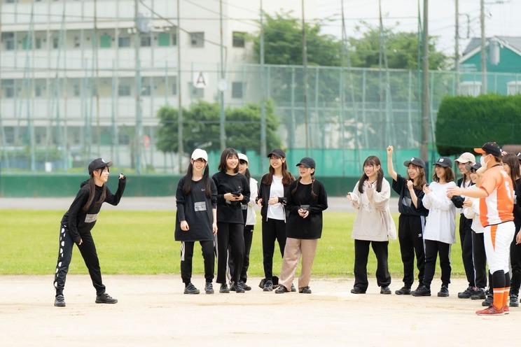 ラストアイドル<球詠>野球練習&囲み取材 足立区平野運動場(2021年6月2日)