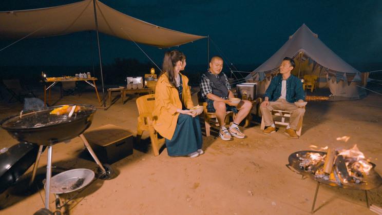 WEB動画「メロンの常識に、カミナリ!!キャンプ ‐CITY OF HOKOTA‐」篇より