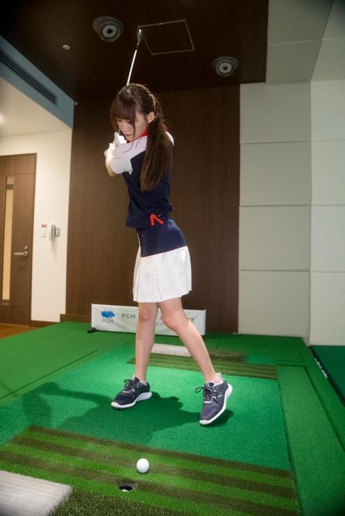 音嶋莉沙(=LOVE)|PGMゴルフアカデミー銀座