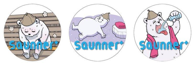 『Saunner』復汗記念オリジナル缶バッジ