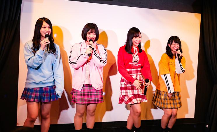 神宿(左から羽島めい、小山ひな、一ノ瀬みか、羽島みき)|カラオケ ビッグエコー渋谷センター街本店