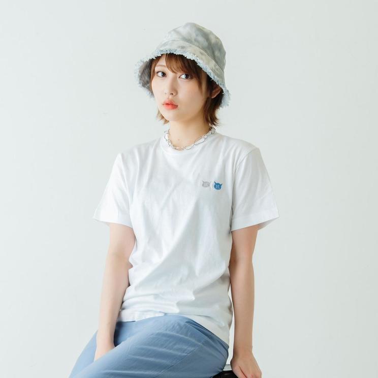 マビちゃん刺繍Tシャツ(着用:ホワイト, Sサイズ)