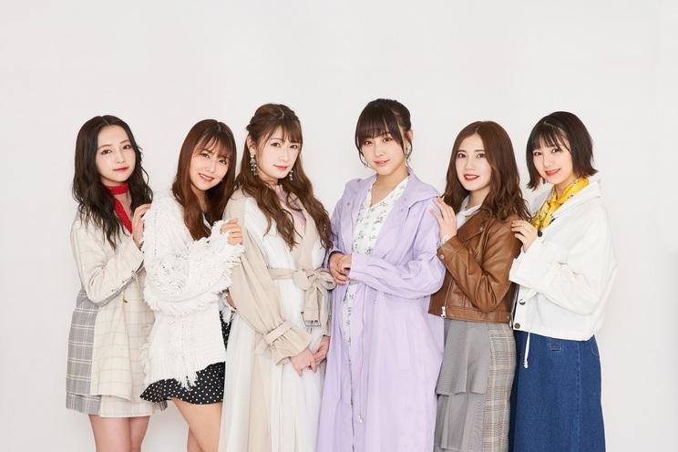左から村瀬紗英(NMB48)、白間美瑠(NMB48)、吉田朱里(NMB48)、鎌田菜月(SKE48)、北川綾巴(SKE48)、菅原茉椰(SKE48)