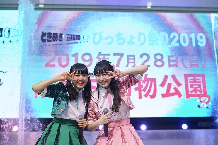 「ときめき♡宣伝部のVICTORY STORY/青春ハートシェイカー」リリースイベント 東京・池袋のサンシャイン噴水広場(2019年4月10日)