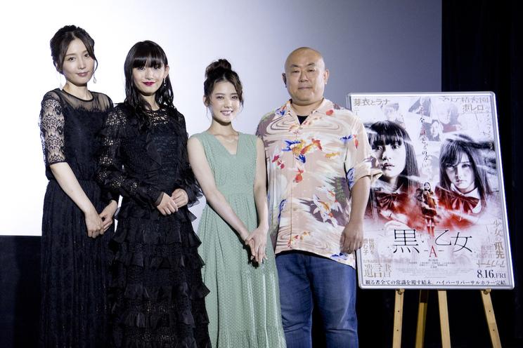 浅川梨奈 主演映画『黒い乙女A』舞台挨拶(2019年8月17日)