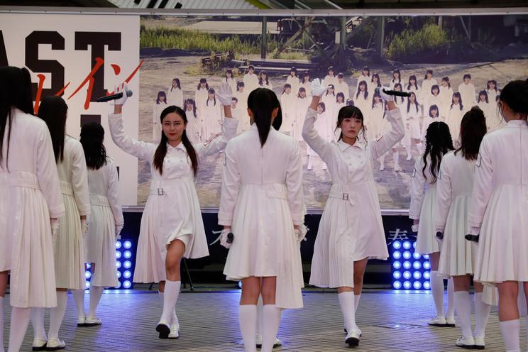 ラストアイドル<7thシングル「青春トレイン」発売記念イベント>撮影:Yoshifumi Shimizu