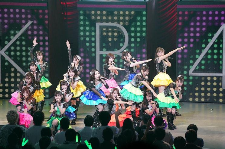 長友彩海(中央ピンクの衣装)<AKB48全国ツアー2019〜楽しいばかりがAKB!〜>|江戸川総合文化センター(2019年9月12日)