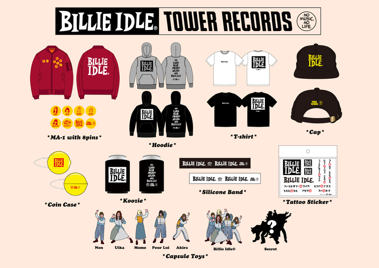 BILLIE IDLE® × TOWER RECORDSグッズ