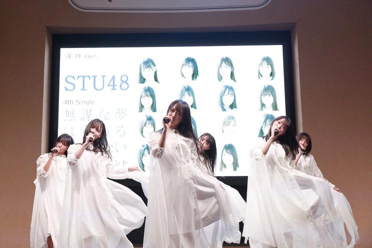 <STU48 4thシングル「無謀な夢は覚めることがない」 発売記念イベント>東京ドームシティ ラクーアガーデンステージ(2020年1月29日)©STU