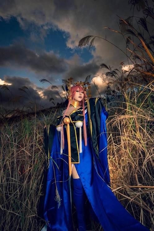 Fateシリーズ「玉藻の前」のコスプレ写真
