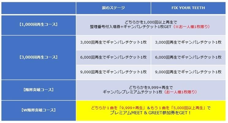 特典会イベント【W限界突破コース】参加条件