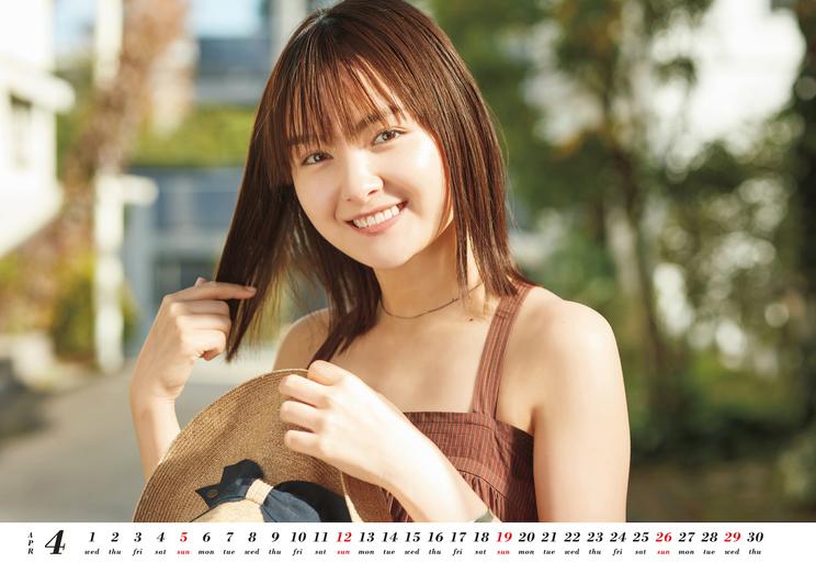 『葵わかな オフィシャルカレンダー2020.4-2021.3』収録カット(4月) ©SDP