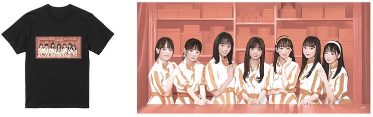 乃木坂46×au PAY マーケット オリジナルTシャツ(イメージ)