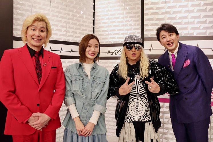 カズレーザー、朝日奈央、DJ KOO、青井実アナウンサー