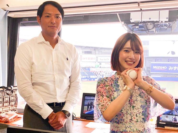 内田真礼 昨年8月24日『千葉ロッテvs福岡ソフトバンク』戦に攝津正と出演