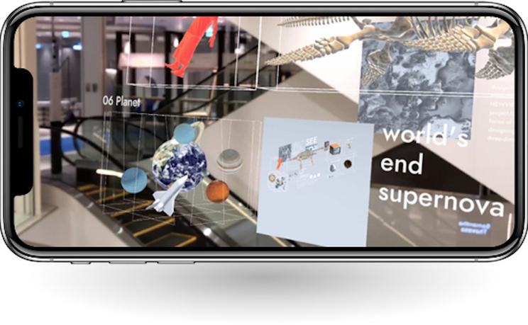渋谷PARCO・XR SHOWCASEでのインスタレーション作品 「World's end supernova : Discont」(常設展示中)