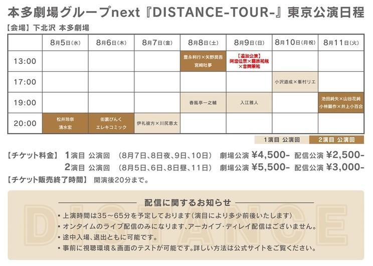 東京公演日程