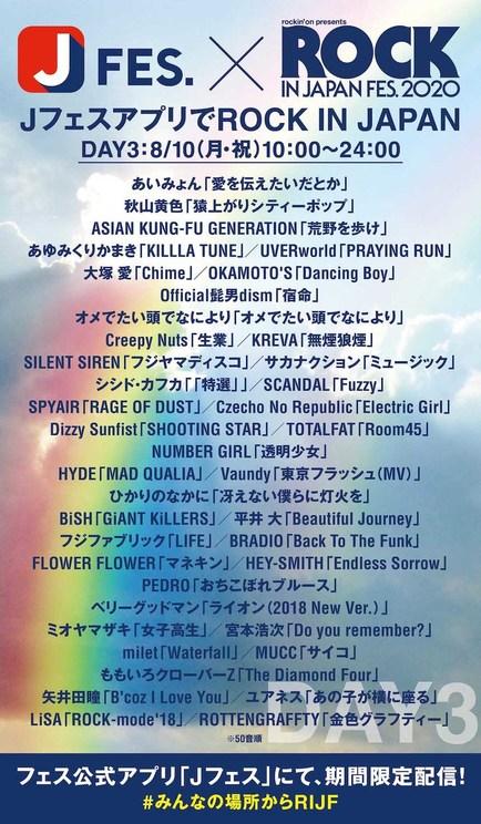 <JフェスアプリでROCK IN JAPAN>DAY3