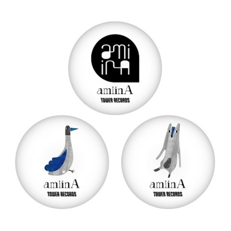 amiinA × TOWER RECORDS缶バッジ3個セット