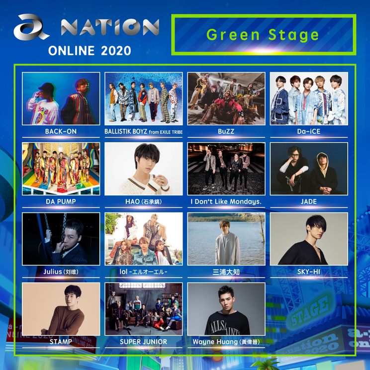 Green Stage出演者