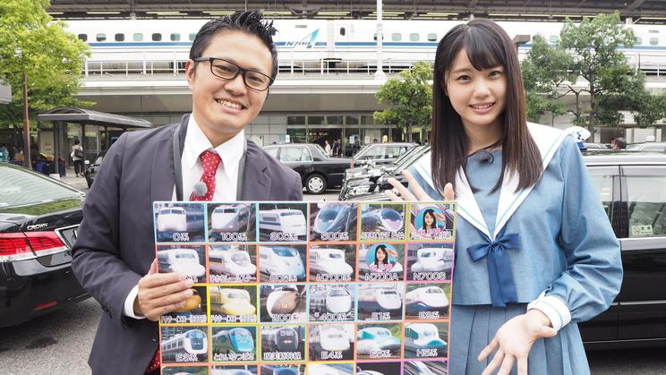 名古屋駅前にて。ホリプロマネジャー南田裕介氏と