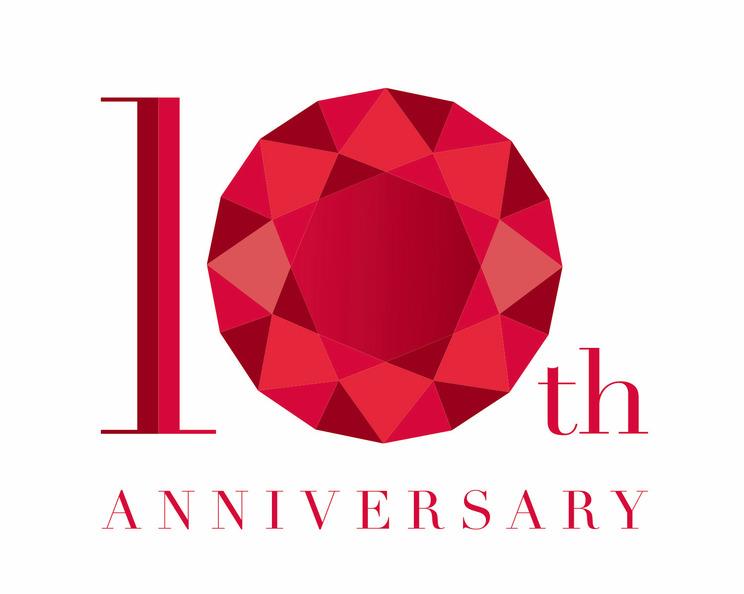 predia結成10周年ロゴ