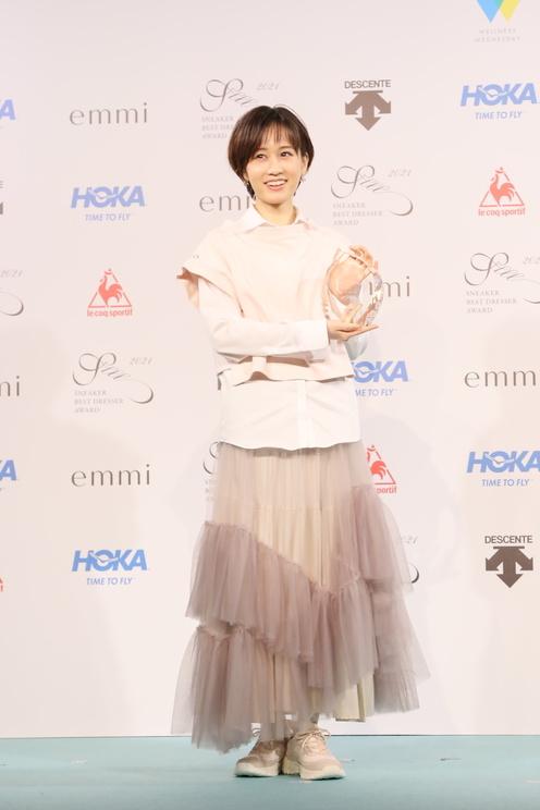 前田敦子<SNEAKER BEST DRESSER AWARD(スニーカーベストドレッサー賞)2021 授賞式・記者発表会>(2021年2月22日)