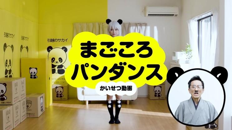 サカイ引越センター新Web動画 「まごころパンダンスかいせつ動画 桃月パンダ」篇より