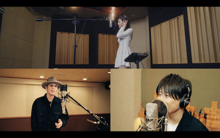 「SANA from TWICE × コブクロ / 卒業」レコーディング映像より