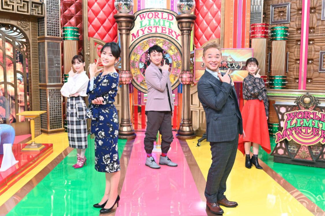 前列左から、高島彩、恵俊彰。後列左から島崎遥香、児嶋一哉(アンジャッシュ)、小芝風花((C)TBS)