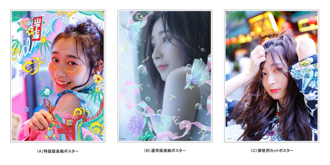 山下七海 1stデジタルフォトブック『GLITTER』ポスター3種