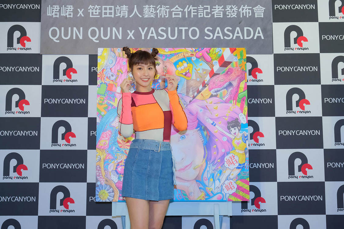 台湾の人気チアリーダー・チュンチュン、現代美術家・笹田靖人とのアートコラボ決定!