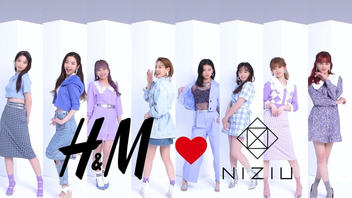 NiziU、ファッションショーに初挑戦! 『H&M♥NiziU』スペシャル動画&インタビュー映像&撮影メイキング公開