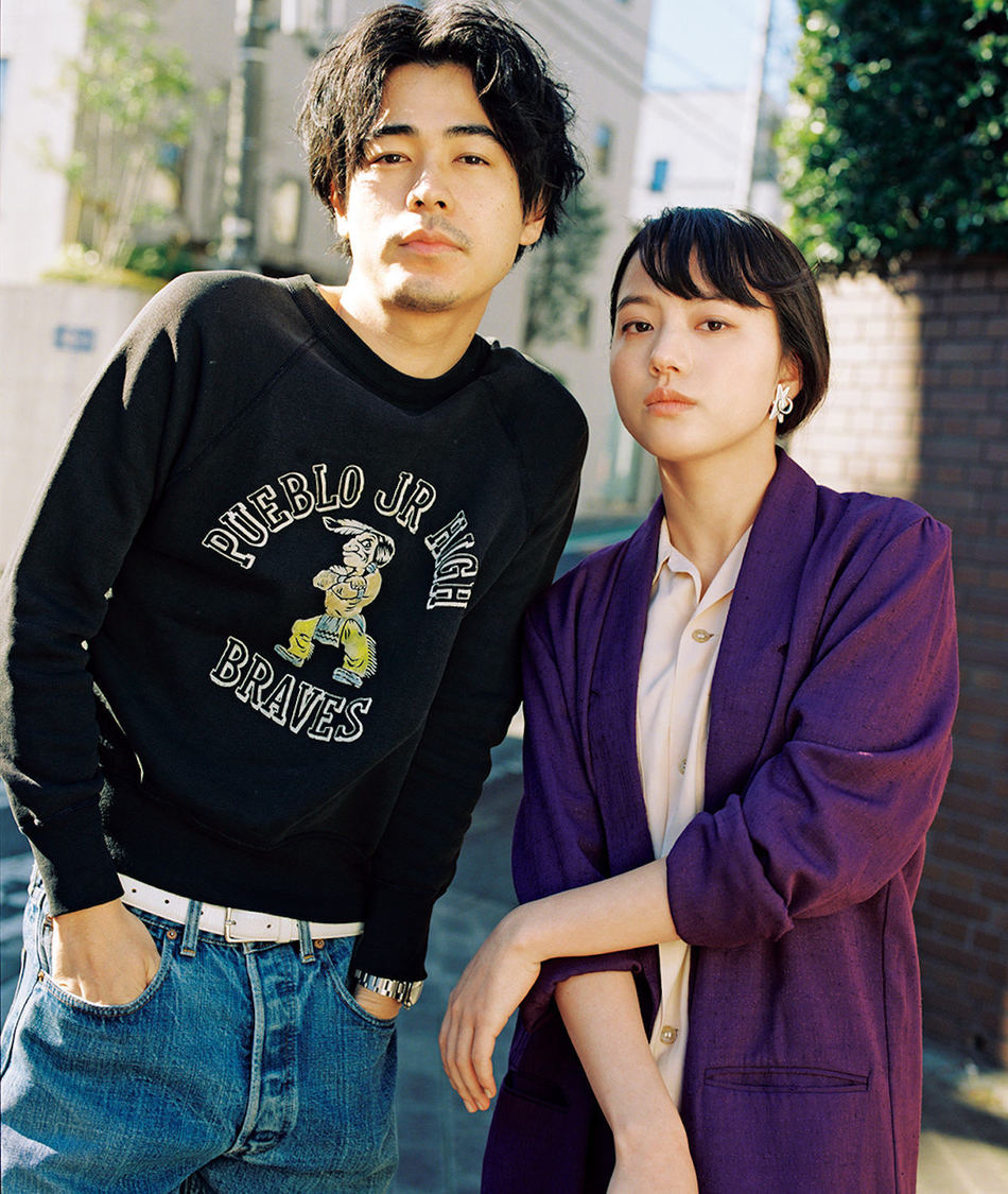 成田凌&清原果耶(『装苑』 2021年5月号より/撮影:松岡一哲)