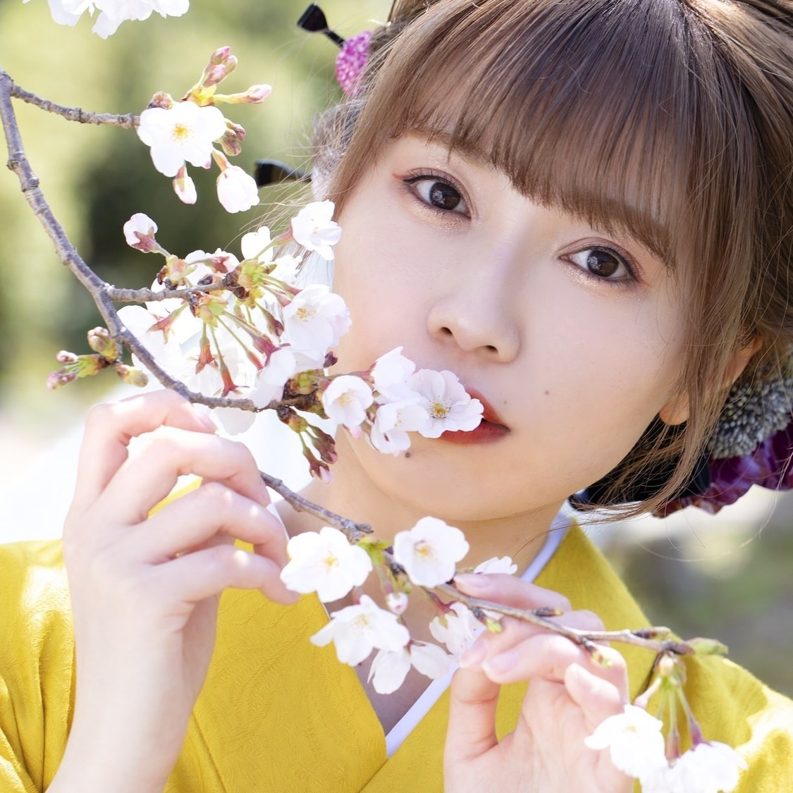 Singing Cosplayer Hikari、小田原城の桜とともに熱唱! 初音ミク「夢と葉桜」カバー動画公開