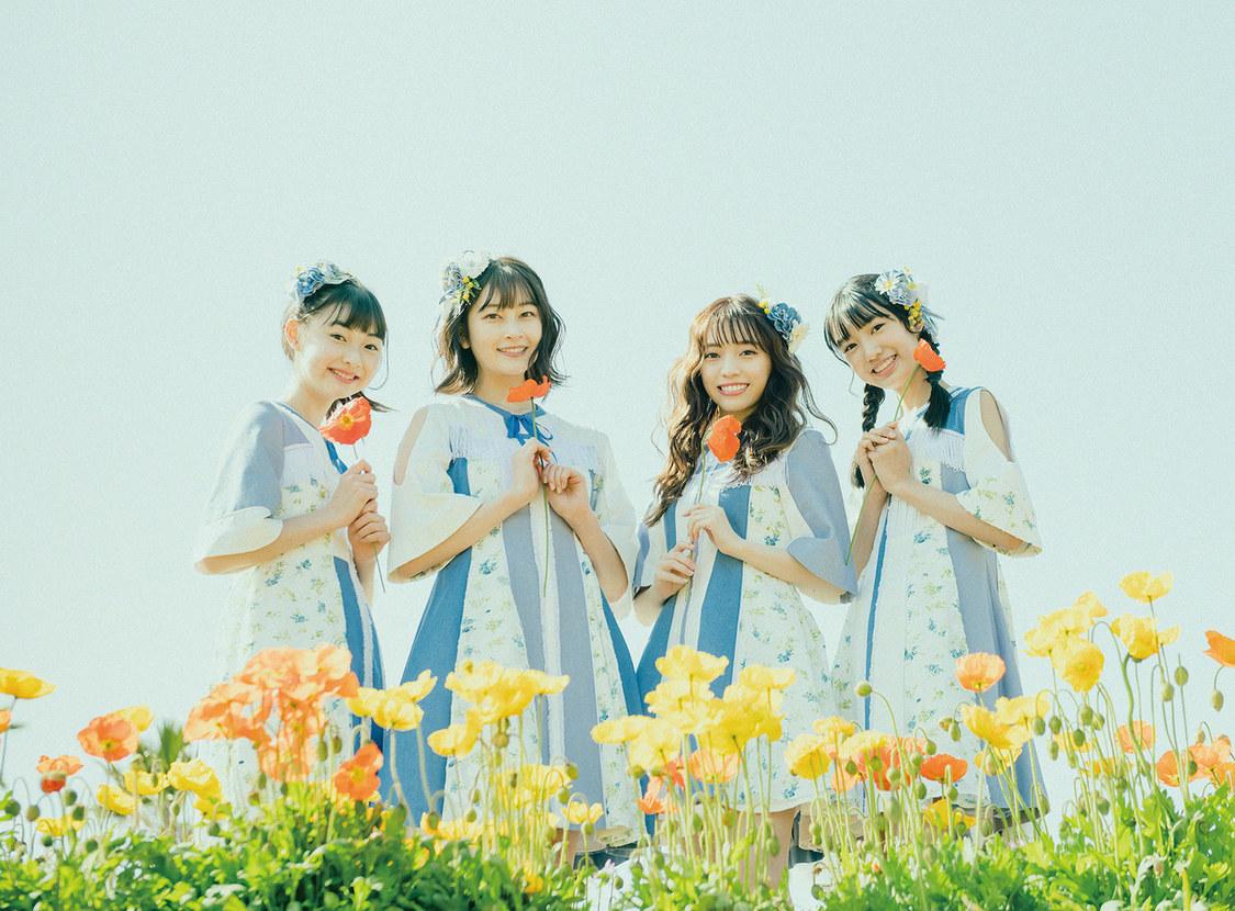 B.O.L.T、可憐な花に囲まれたレトロ質感の新アーティストビジュアル+2nd SG「スマイルフラワー」ジャケット公開!