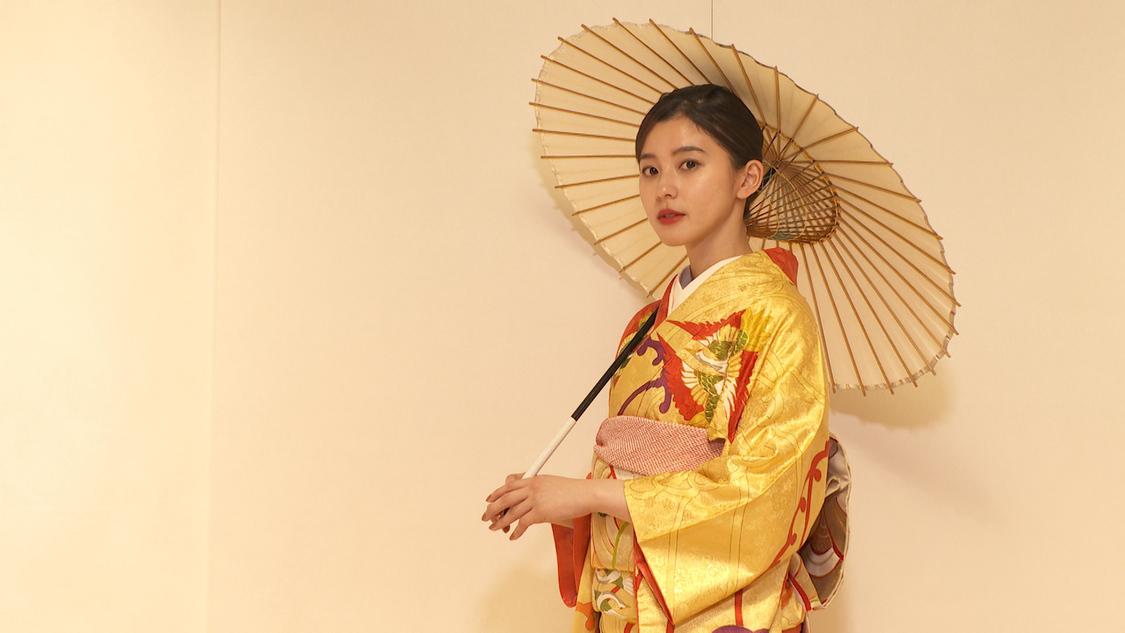 朝比奈彩、着物の歴史を学ぶ「着物1着の重みが今日1日ですごく変わった」『週末ハッピーライフ!お江戸に恋して』出演