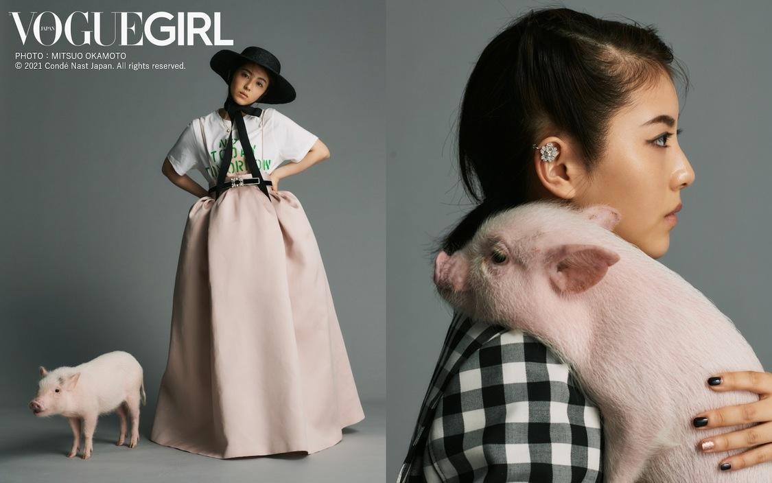 浜辺美波(VOGUE GIRL PHOTO:MITSUO OKAMOTO © 2021 Condé Nast Japan. All rights reserved.)