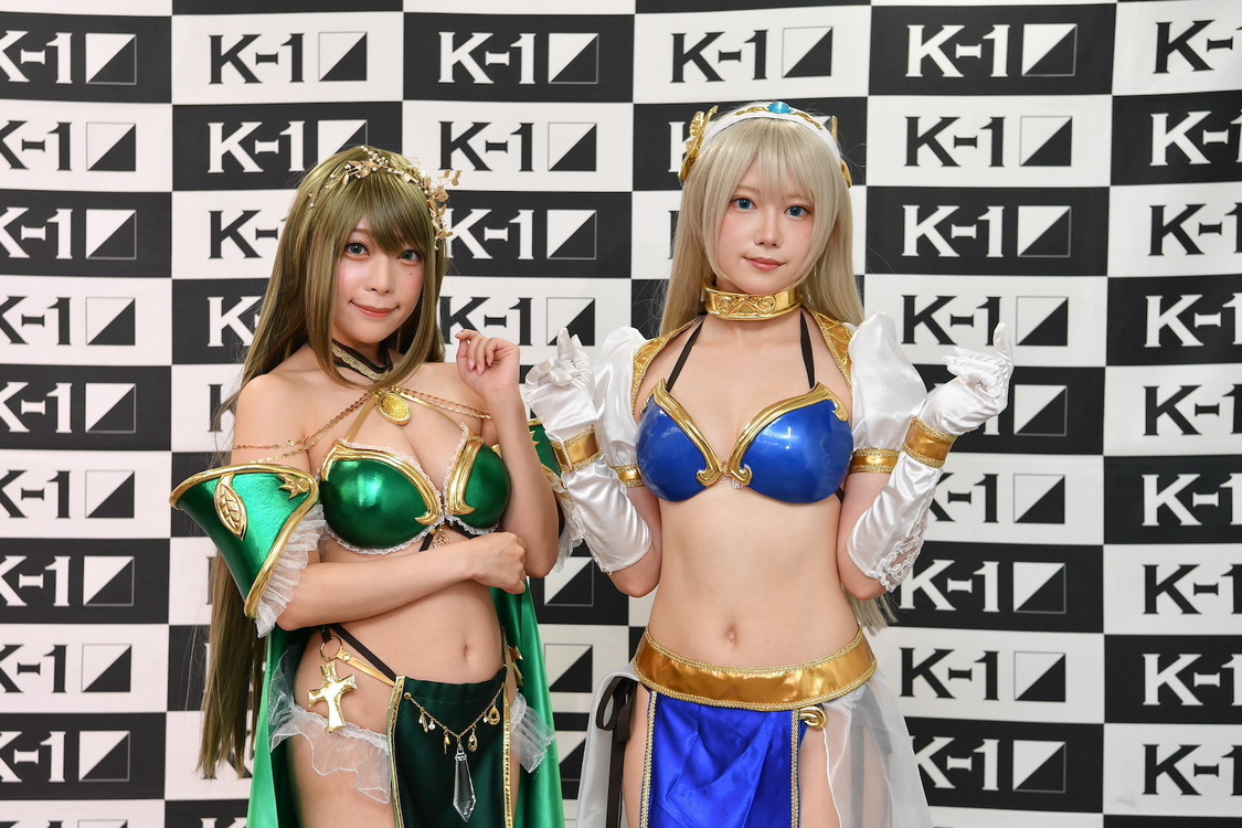 宮本彩希、篠崎こころ、女戦士のようなビキニアーマースタイルで悩殺! K-1スペシャルラウンドガール初登場