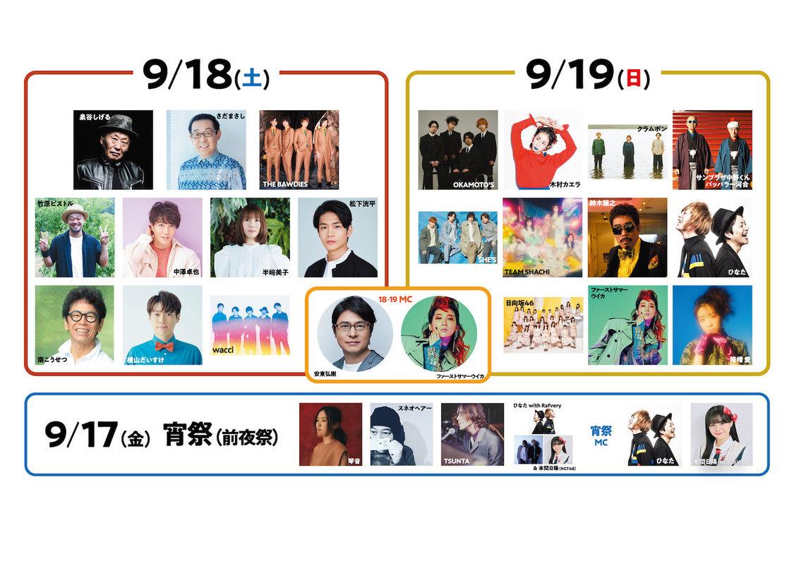 日向坂46、TEAM SHACHI、本間日陽(NGT48)、<長岡 米百俵フェス〜花火と食と音楽と〜2021>出演決定!