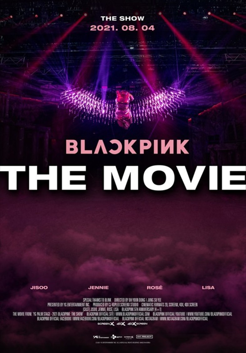 (c)2021 YG ENTERTAINMENT INC. & CJ 4DPlex. ALL RIGHTS RESERVED. MADE IN KOREA