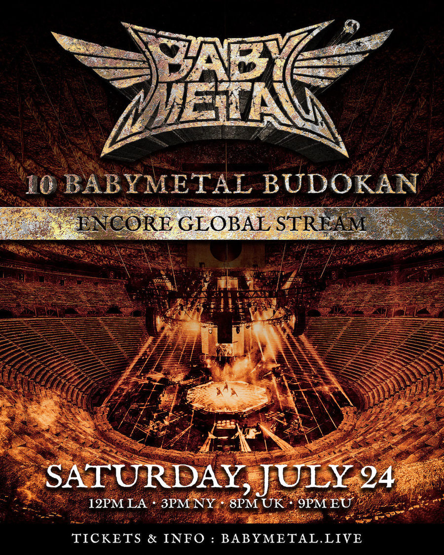 BABYMETAL、<10 BABYMETAL BUDOKAN>最終日公演の全世界アンコール配信+海外でのライブアルバム発売決定!