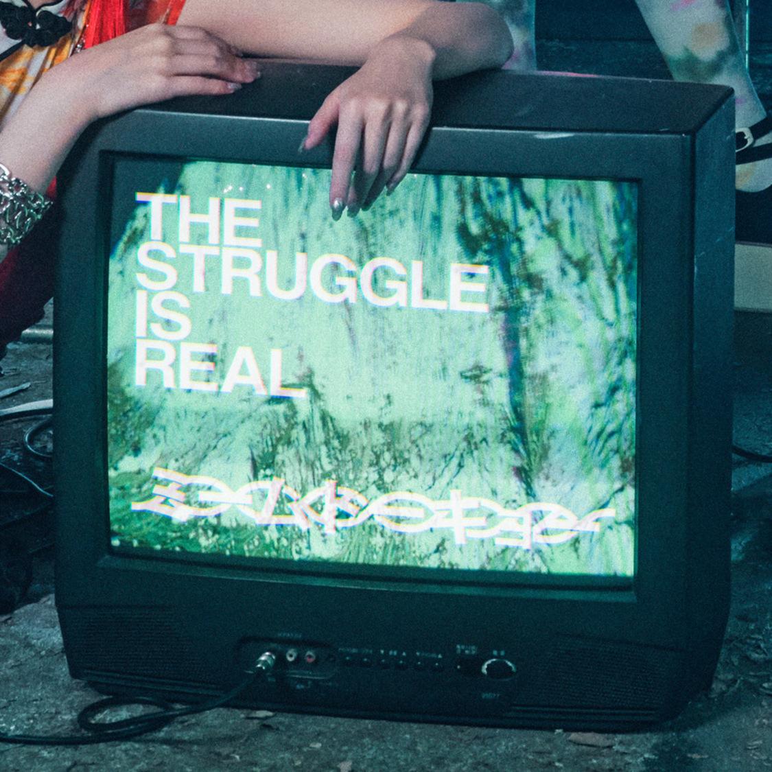 ミームトーキョー「THE STRUGGLE IS REAL」配信ジャケット写真