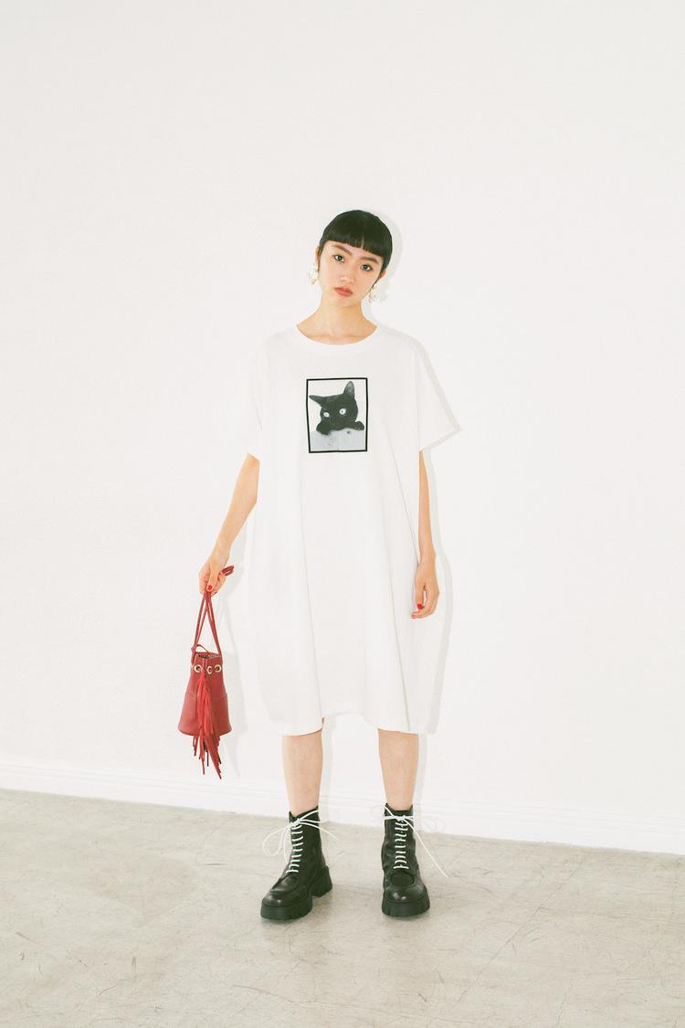 """元アンジュルム 相川茉穂、愛猫""""ゾーイ""""をモチーフにデザインしたTシャツを販売! レディースブランド『La Boutique BonBon』コラボTシャツ先行予約スタート"""