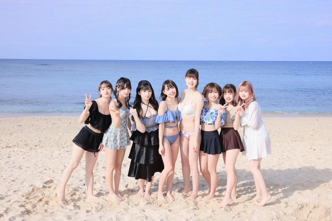 純情のアフィリア、全メンバーが爽やかな水着姿で魅せる! 初グラビアDVD『純情 in 沖縄』発売決定